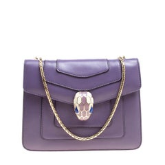 Bvlgari Purple Leather Small Serpenti Forever Shoulder Bag