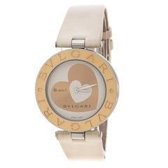 Bvlgari White Rose Gold-Plated Stainless Steel B.Zero1 Women's Wristwatch 35MM