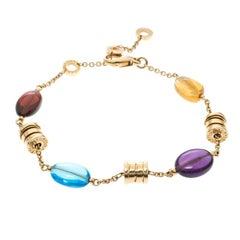 Bvlgari B.Zero1 Multicolored Gemstones Yellow Gold Bracelet