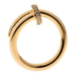 Cartier Juste Un Clou Diamond & 18k Rose Gold Ring 51