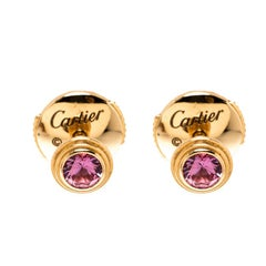 Cartier Saphirs Legers Pink Gold And Pink Sapphires Earrings