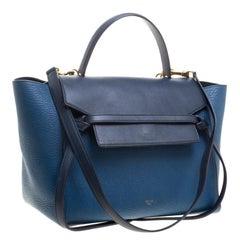 Celine Blue Leather Belt Tote