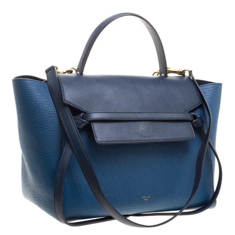 bd32264538 Celine Blue Leather Belt Tote at 1stdibs