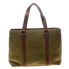 Celine Green Macadam Suede Small Lovely Shoulder Bag