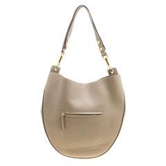 Celine Taupe Leather Medium Seashell Hobo