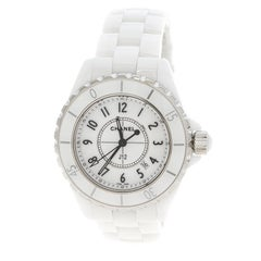 Chanel White Ceramic J12 Women's Wristwatch 34 mm
