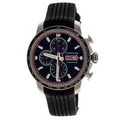Chopard Black Stainless Steel Mille Miglia GTS Chronograph 8571 Men's Wristwatch