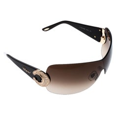 Chopard Brown SCH 939S Shield Sunglasses