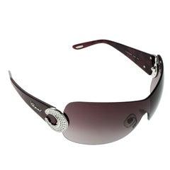Chopard Burgundy/Burgundy Gradient SCH 939S Shield Sunglasses