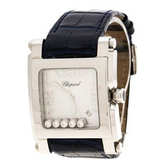 Chopard White Mother of Pearl Stainless Steel Diamonds Happy Sport II 28/8447 Wo