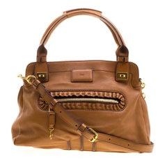 Chloe Brown Leather Margaret Shoulder Bag