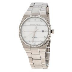 Concord Mariner White Mother of Pearl Stainless Steel Diamond 05.1.14.1093S Men'
