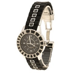 Dior Black Stainless Steel And Sapphire Christal CD113115 Women's Wristwatch 34