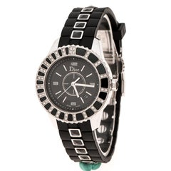Dior Black Stainless Steel Christal CD113115 Women's Wristwatch 34 mm