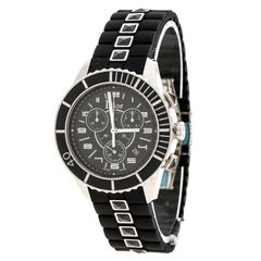 Dior Black Stainless Steel Christal CD114317 Men's Wristwatch 38 mm