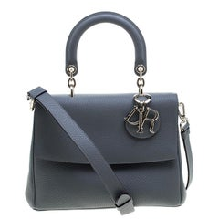 Dior Grey Leather Small Be Dior Shoulder Bag