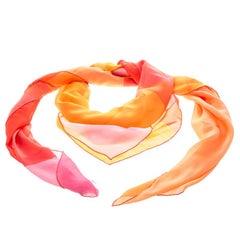 Dior Multicolor Printed Silk Square Scarf