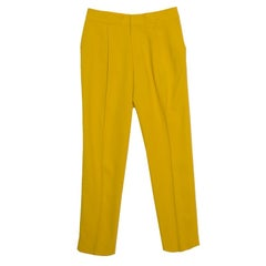 Chloe Mustard Yellow High Waist Cropped Trousers S