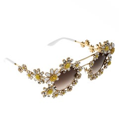 Dolce and Gabbana Gold Tone/Brown Gradient DG2153 -B Limited Edition Daisy Sungl