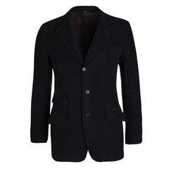 Dolce and Gabbana Navy Blue Cotton Tailored Blazer S