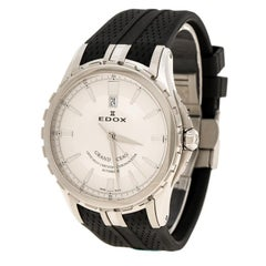 Edox White Stainless Steel Grand Ocean 80077 Men's Wristwatch 45 mm