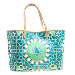 Etro Green/Multicolor Printed Coated Canvas Ramadan Edition Shopping Tote
