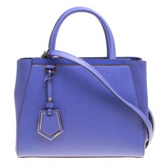 Fendi Lilac Saffiano Leather Small 2Jours Top Handle Bag