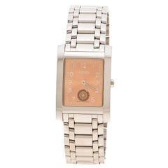 Fendi Metallic Pink Stainless Steel 7000G Women's Wristwatch 27 mm