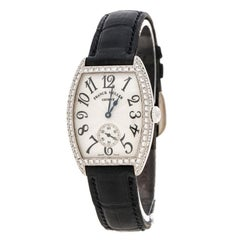 Franck Muller Silver 18K White Gold And Diamonds Cintree Curvex 1750S6D Women's