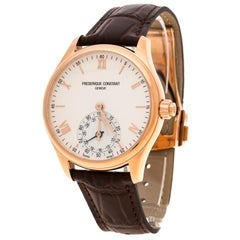 Frederique Constant Silver White Dial Rose Gold Plated Horological Smart FC-285V