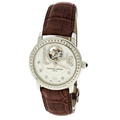 Frederique Constant White Mother of Pearl Stainless Steel Heart Beat Women's Wri