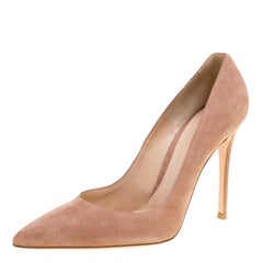 Gianvito Rossi Beige Suede Pointed Toe Pumps Size 39