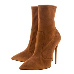 Giuseppe Zanotti Brown Suede Ankle Boots Size 38