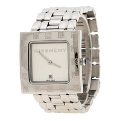 Givenchy Silver White Apsaras AD800217 Square Women's Wristwatch 31 mm