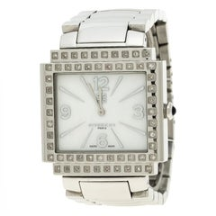 Givenchy White Mother of Pearl Stainless Steel New Apsaras Women's Wristwatch 35
