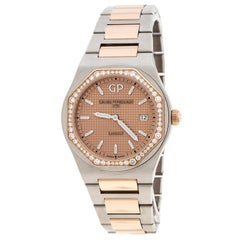 GP Girard Perregaux 18K Rose Gold Stainless Steel Diamond Laureto 80189 Women's