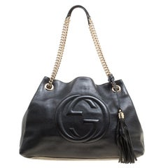 Gucci Black Pebbled Leather Medium Soho Tote