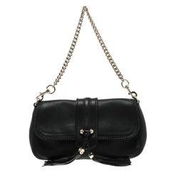 Gucci Black Leather Marrakech Baguette Shoulder Bag