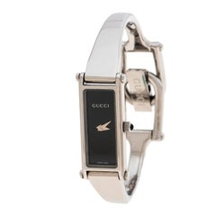 Gucci Black Stainless Steel 1500L Women's Wristwatch 12MM