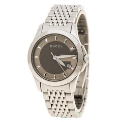 Gucci Brown Stainless steel G Timeless 126.5 Women's Wristwatch 27 mm