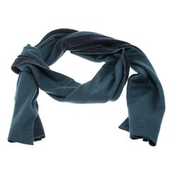 Hermès Bicolor Cashmere and Silk Knit Reversible Aller Retour Muffler