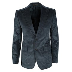 Gucci Teal Blue Regular Fit Corduroy Blazer M
