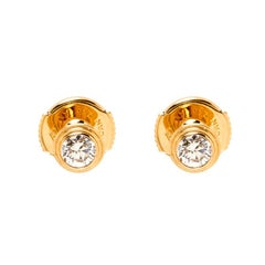 Cartier Diamants Legers Pink Gold And Diamonds XS Earrings