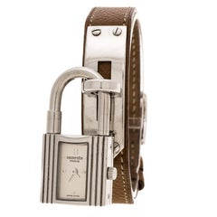 Hermes Silver Grey Stainless Steel and Kelly KE1.210 Women's Wristwatch 20 mm