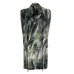 Kenzo Multicolor Printed Cotton Twill Zip Detail Long Sleeveless Jacket S