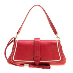 Lancel Red Leather Clutch