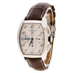 Longines Pearl White Stainless Steel Evidenza L2.643.4 Men's Wristwatch 35 mm