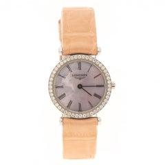 Longines Purple Mother of Pearl Stainless Steel Diamond La Grande Wristwatch