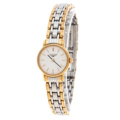 Longines White Gold Plated Stainless Steel Plaisance L4.219.2 Women's Wristwatch