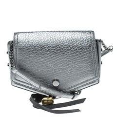 Jimmy Choo Metallic Silver Leather Arrow Crossbody Bag
